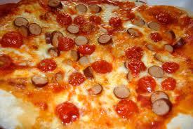 Pizza de salchicha